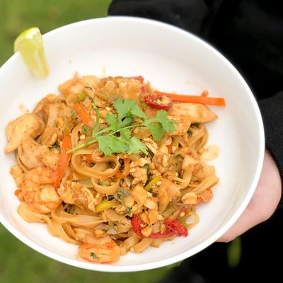 Recept na thajskou kuřecí pánev s krevetami