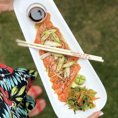 Recept na lososové sashimi